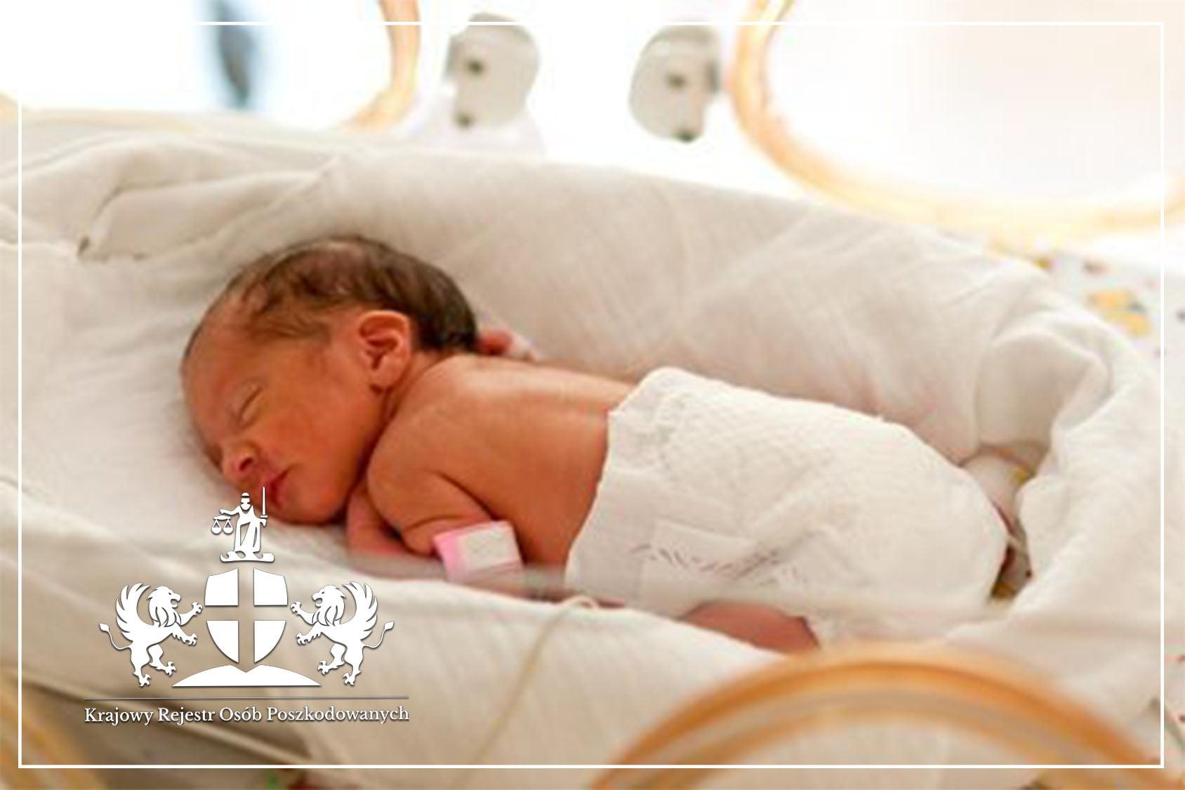 Złamany obojczyk noworodka