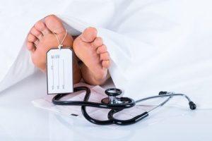 Śmierć pacjenta jako następstwo spowodowania ciężkiego uszczerbku na zdrowiu