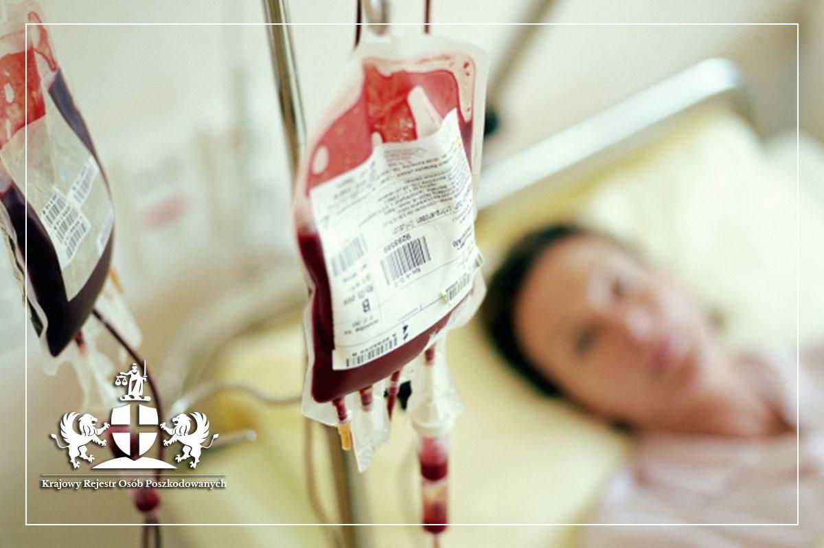 Błąd medyczny pielęgniarki - pacjent otrzymuje niezgodną grupową krew