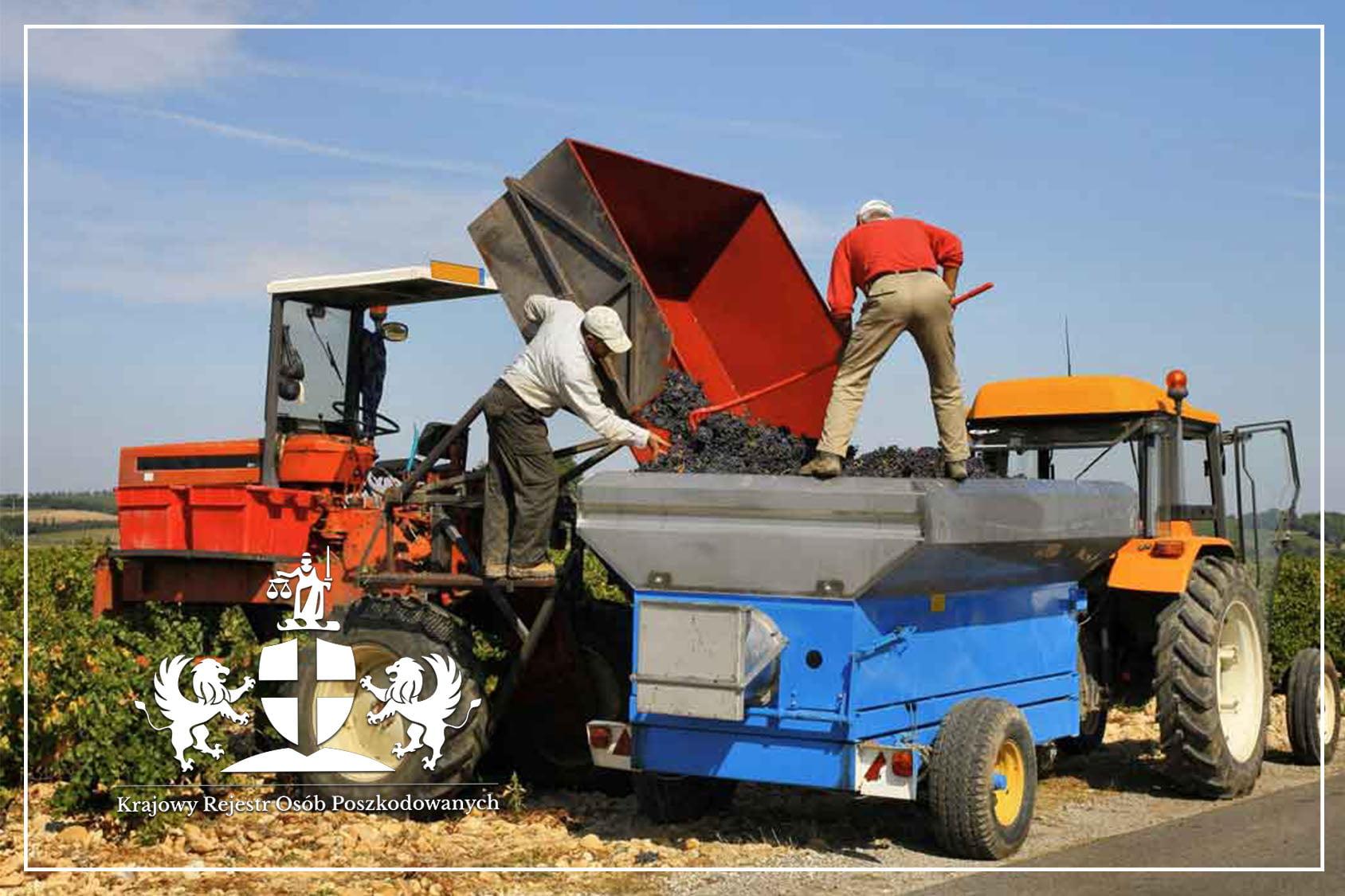 KROP wypadek przy pracy rolnika